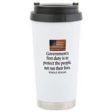 REAGAN: Government's first duty... QUOTE Travel Mug