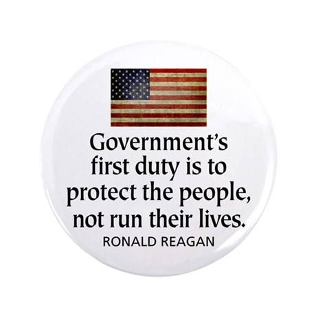 """REAGAN: Government's first duty... QUOTE 3.5"""" Butt"""