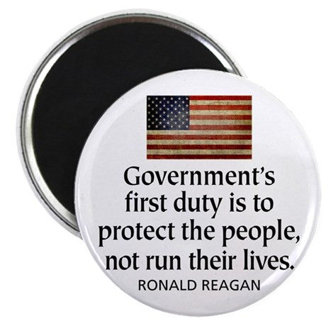 """REAGAN: Government's first duty... QUOTE 2.25"""" Mag"""