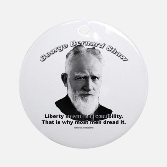 George Bernard Shaw Ornament (Round)