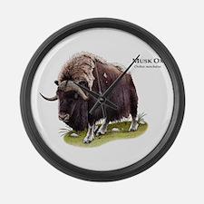 Musk Ox Large Wall Clock