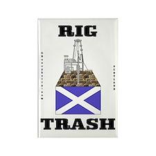 Scottish Rig Trash Rectangle Magnet,Oil,Gas