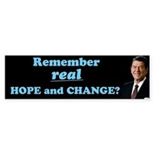 Reagan Hope & Change Bumper Sticker
