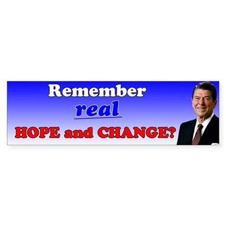 Reagan Hope & Change Sticker (Bumper)