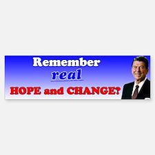 Reagan Hope & Change Sticker (Bumper)