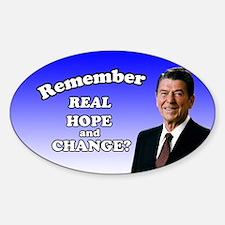 Reagan Hope & Change Sticker (Oval)