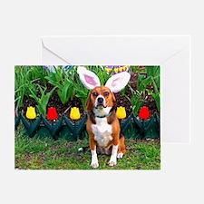 Beagle Easter Greeting Card