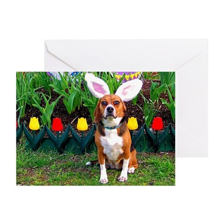 Beagle Easter Greeting Cards (Pk of 10)