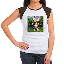 Beagle Easter Women's Cap Sleeve T-Shirt