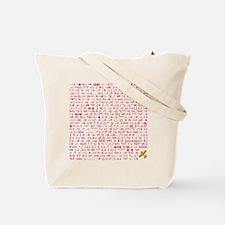 Girl Wink 2 Sided Print Tote Bag