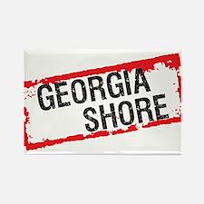 Georgia Shore Rectangle Magnet