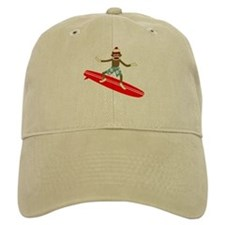Sock Monkey Surfer Baseball Cap
