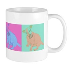 Warhol Style Jack Russell Design on Mug