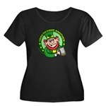 St. Patricks Day Women's Plus Size Scoop Neck Dark
