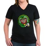 St. Patricks Day Women's V-Neck Dark T-Shirt