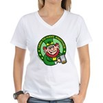 St. Patricks Day Women's V-Neck T-Shirt