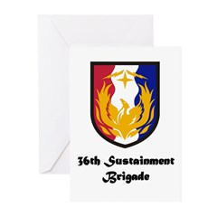 36th Sustainment Brigade Greeting Cards (Pk of 20)