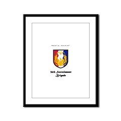 36th Sustainment Brigade Framed Panel Print
