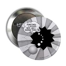 Wonder Why Button (Black/White)