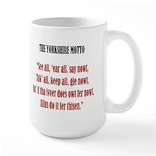 Yorkshire Map & Motto Mug