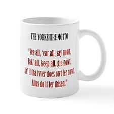 Yorkshire Map & Motto Small Mug