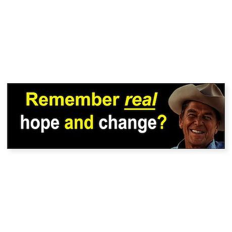 Reagan Remember Real Hope Sticker (Bumper 50 pk)