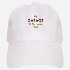 My Garage is my Happy Place Baseball Baseball Cap