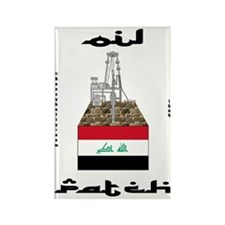 Iraq Oil Patch Rectangle Magnet (100 pack)