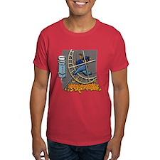 T-Shirt Caged Man Jogging Hamster Wheel