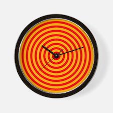Animated Wall Clock 'Circles' (Red/Yellow)