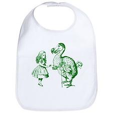 Alice and Dodo Green Bib