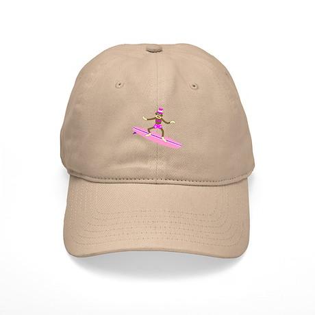 Sock Monkey Surfer Girl Cap
