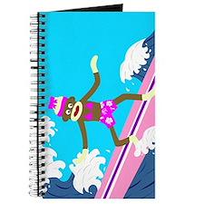 Sock Monkey Surfer Girl Journal