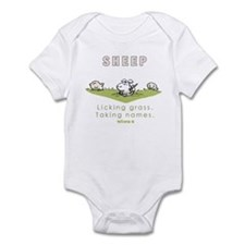 Licking Grass, Taking Names Infant Bodysuit