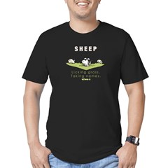 Licking Grass, Taking Names Men's Fitted T-Shirt (