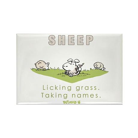 Licking Grass, Taking Names Rectangle Magnet