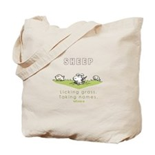 Licking Grass, Taking Names Tote Bag