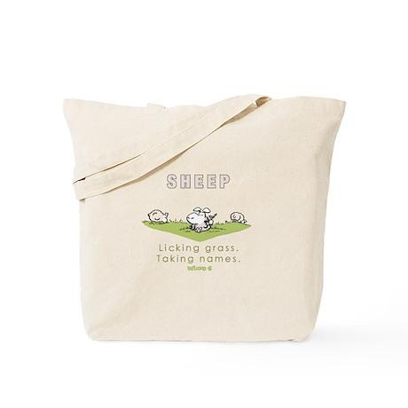 Licking Grass, Taking Names Tote Bag