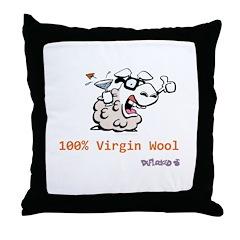 Virgin Wool Throw Pillow