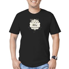 DeFlocked Wool Men's Fitted T-Shirt (dark)