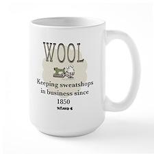 DeFlocked Wool Large Mug