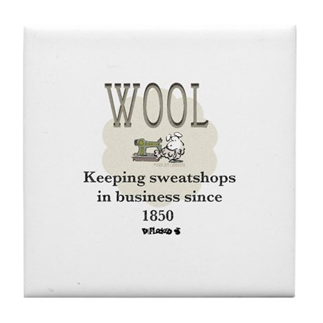 DeFlocked Wool Tile Coaster