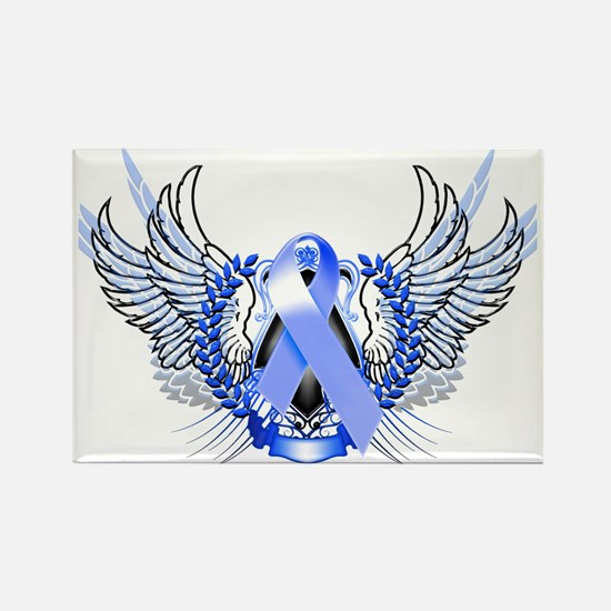 Awareness Tribal Blue Rectangle Magnet