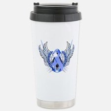 Awareness Tribal Blue Travel Mug