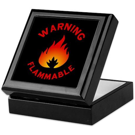 Flammable Warning Keepsake Box