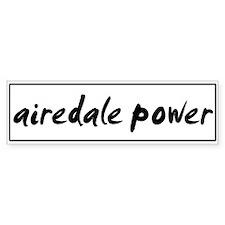 Airedale POWER Bumper Bumper Sticker