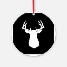 BUCK SILLHOUETTE Ornament (Round)