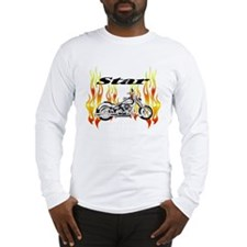 Flamin Hot Star Bike Long Sleeve T-Shirt