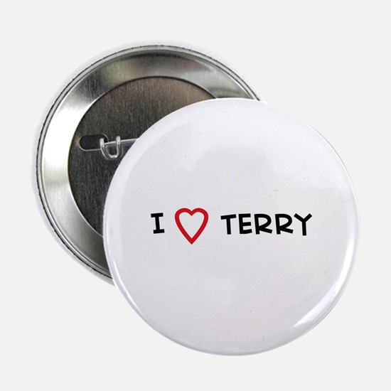 I Love TERRY Button