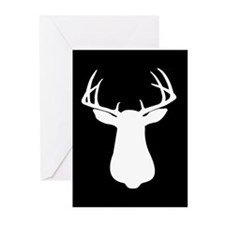 BUCK SILLHOUETTE Greeting Cards (Pk of 10)